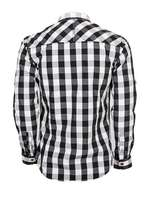 Black And White Checked Casual Slim Fit Shirt