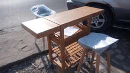 German Soboy Mobile kitchen Cabinets with kitchen stool