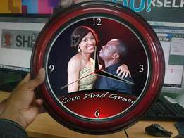 Picture customised wall clocks