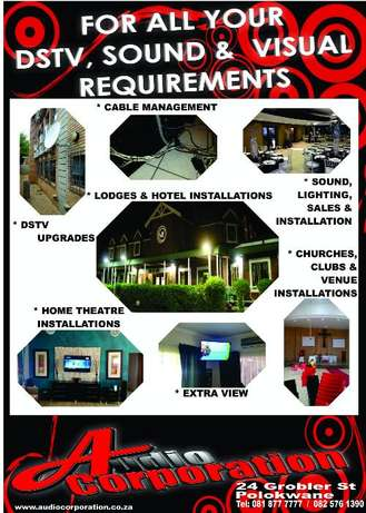 Audio Corp: For All Your Installations Polokwane - image 1