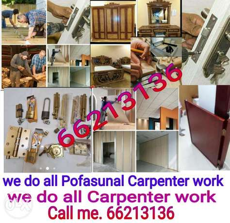 we Do all types carpentry works if you want cal