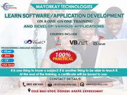 Learn Software and Application Development on a one on one training