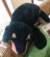 Very Large Soft Dog Toy for hanging over chair or flat on bed!