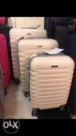 Travel Suitcase Swiss Beige set 3 bags now 50%