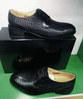 John foster leather shoes black