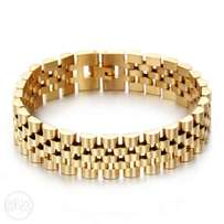 15mm Gold Stainless Crip Rolex Style Jubilee I Bracelet