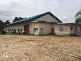 For Rent: 900sqm Warehouse on 5500sqm Land in Trans Amad Port-Harcourt
