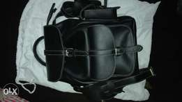 A classy and black backpack