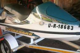 tiger shark jet ski with trailor with papers licence on date