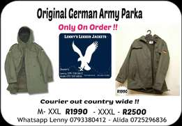 Original German Army Parka With Flags