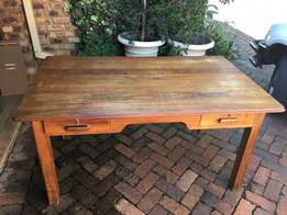 Solid wood study table