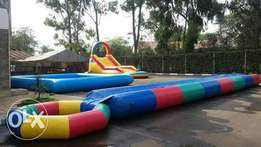 Bouncing castle, trampoline, decorations, climbing tower