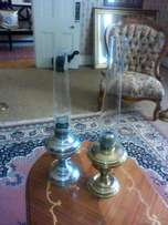 Paraffin lamps.