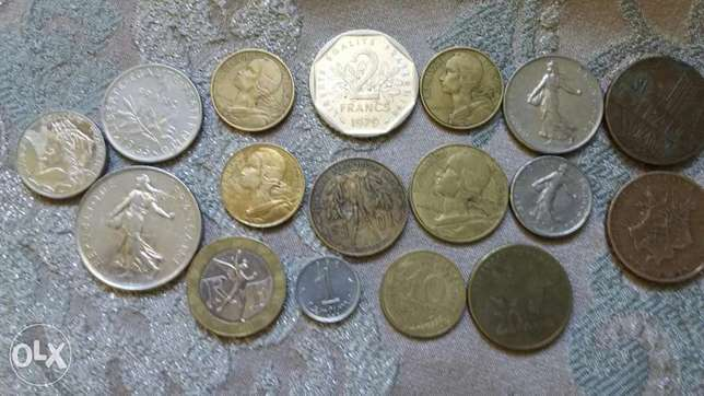 Twenty French Old Coins from the 60's 70's & 80's