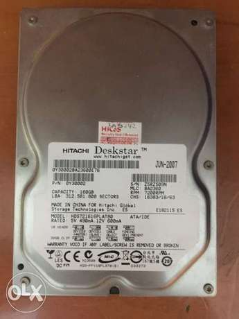 Hitachi Hard Disk 160 GB (old connection type)