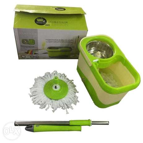 Double colour spinmop
