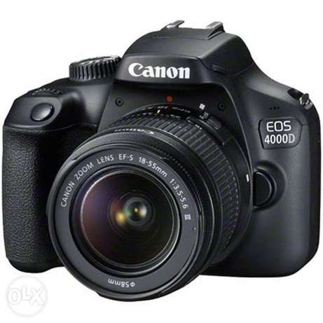 Canon EOS 4000d DSLR with lens 50MM.