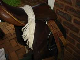 Riding Saddle and assorted tack.