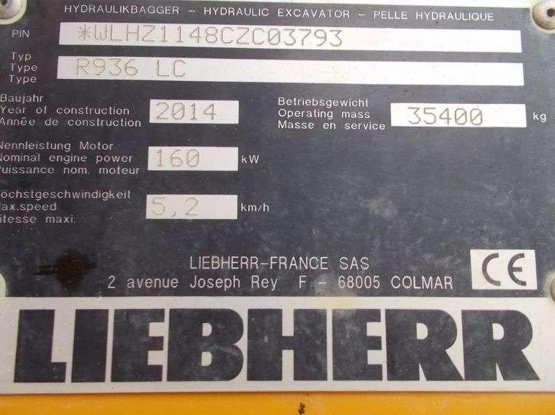 Liebherr R 936 LC Multi User Litronic - 2014 - image 14
