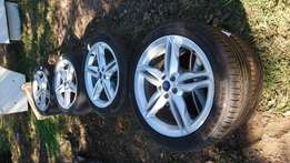 Ford rims and tyres x 8