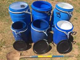 1000 Liters Flow Bins,25 L,50 L and 210 Liters Plastic Drums