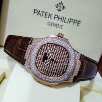 New patek philippe nautilus ice face wrist watch