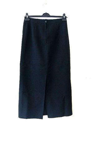 c6dac6b8 Modna czarna prosta xxl44 42 spodnica midi kloszowana z wysokim ...