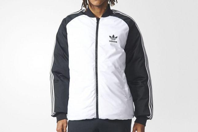 Adidas kurtka zimowa dwustronna mega okazja! L przecena z