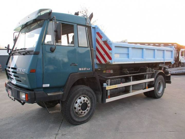 MAN STEYR 19 SA 27 4X4 AJK Containerhook + Hardox Kipper WAF - 1995