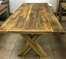 Never been used solid mango wood dining table. Retails for R9499