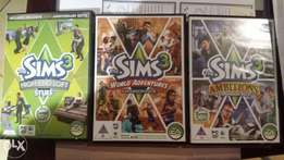 Sims 3 PC expansion packs x3