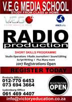 Radio production & Other Short Courses, registration is open