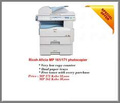 Ricoh mp 171/161 fully equipped with COLOR scanner,printer,photocopy
