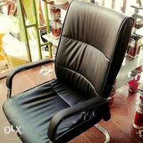 Office leather chair(static leg)