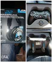Scuf remote and turtle beach headset.