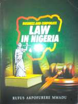 Business & Corporate Law in Nigeria for Management & Law students