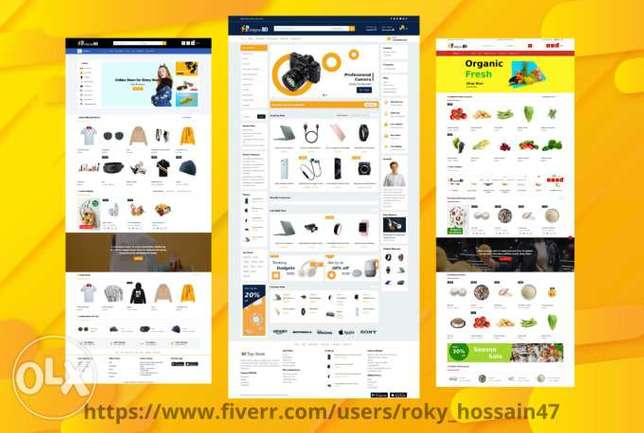 we build ecommerce website or dropshipping website using wordpress