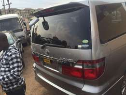 Toyota alphard with good engine still intact
