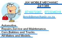 J&K Mobile Mechanic 24/7/365 Vehicle Repairs,Service&Maintenance.-1