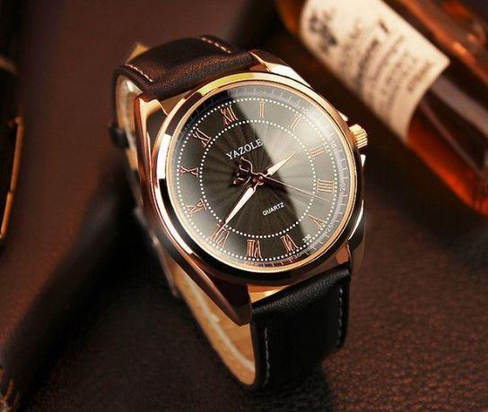 Мужские кварцевые часы YAZOLE 336 Кожаный ремешок Красный Лиман -  изображение 1 e4871a07cc44d