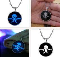 crazy skull x glow in the dark party wear chain pendant