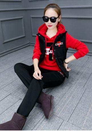6172fcba Спортивный костюм / штаны спортивные /жилетка/ 3 в 1 красный р.36 S ...