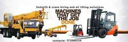 cranes and forklift for hire