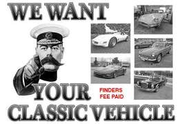 Classic vehicles wanted