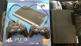 Ps3 500gb superslim. Mint Condition!!! Comes with 9 games and headset.