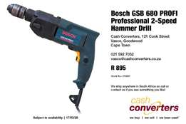 Bosch GSB 680 PROFI Professional 2-Speed Hammer Drill
