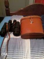 1x binnoculars in leather case 12 x 50 in perfect condition