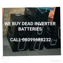 Sell your dead inverter Batteries to us or swap them with discount.