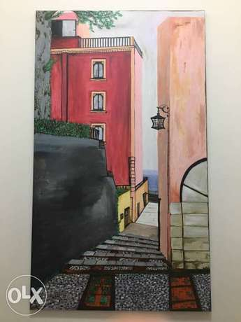 hand painted on canvas (size 120x70)