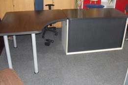 5 Mahogany L Shape Desk with Pedenza available, CapeOffice2nds!!